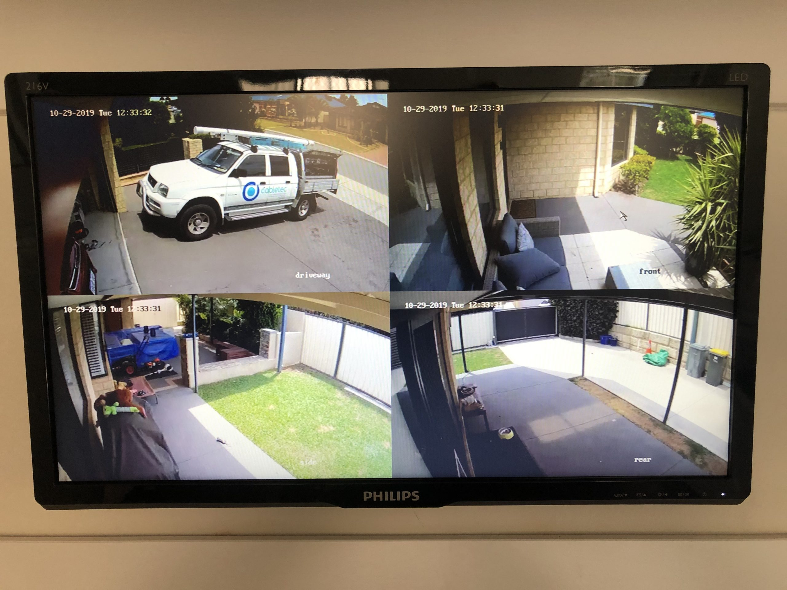 A HIKVision camera package installed by Cabletec Services in Perth